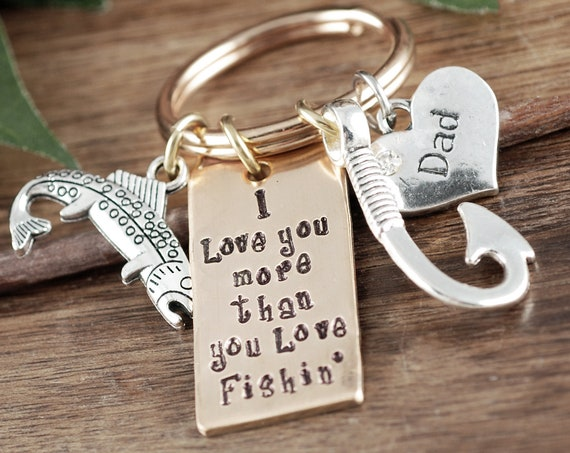 Dad Fishing Gift, Daddy Personalized Keychain, Dad Keychain, Gift for Dad, Father's Day Keychain, Fishing Keychain, Gift for Him