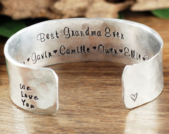 Personalized Gift for Grandma, Grandma Bracelet, Custom Bracelet For Grandma, GrandKids Name Jewelry, Mothers Day Bracelet, Grandma Jewelry
