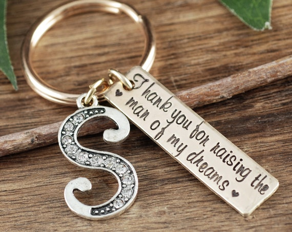 Thank You For Raising the man of my dreams Keychain, Wedding Gift, Mother of the Groom, Mother in Law Gift, Mother of the Groom Gift