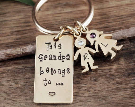 Father's Day Gift, Personalized Keychain, Grandpa Keyring, Gift for Grandpa, Father's Day Keychain, Gift for Him, Best Father's Day GIft