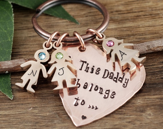Father's Day Gift, Father's Day Keychain, Personalized Keychain, Custom Dad Keyring, Gift for Dad, Gift for Him, Best Father's Day GIft