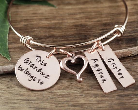Mother's Day Gift for Grandma, Custom Grandma Bracelet, Personalized Charm Bracelet,Name Bracelet, Grandmother Bracelet, Nanny Jewelry