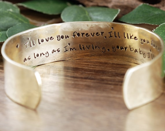Perosnalized Daughter Bracelet, Custom Daughter Gift, Cuff Bracelet, Personalized Bracelet, I'll Love you Forever, I'll LIke you for Always
