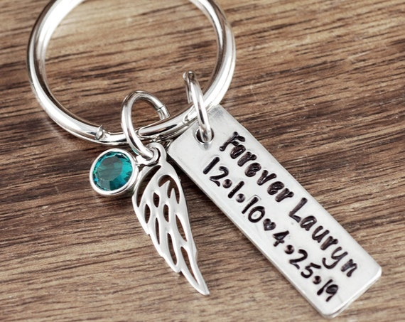 Memorial Keychain, Sympathy Gift, Loss of Child Keychain, Child Loss Gift, Personalized Memorial Keychain, Daddy of an Angel Gift