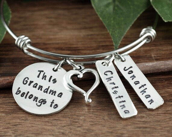 Personalized Grandma Bracelet, Personalized Charm Bracelet, Gift for Grandma, Mothers Day Gift, Name Bracelet, Grandmother Bracelet