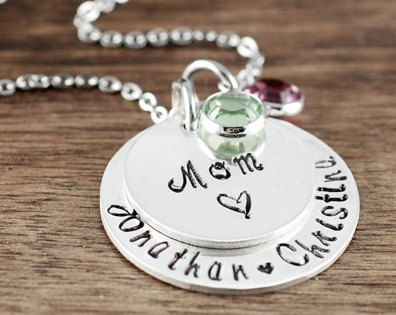 Personalized Mom Necklace, Kids Name Necklace, Mother's Necklace, Gift for Mom, Grandma Jewelry, Mom Gift, Gifts for Grandma