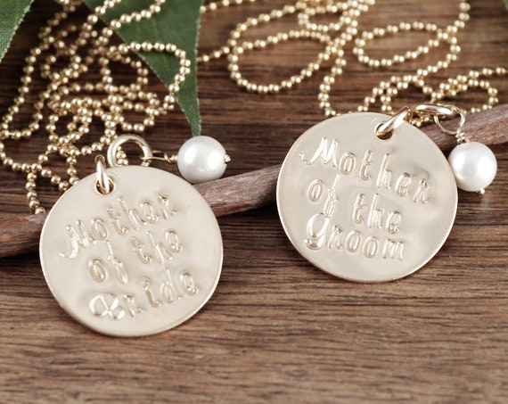 Mother of the Bride Necklace, 14kt Gold Filled Necklace, Mother of the Groom Necklace, Gift from Bride to Mom, Gift for Mother in Law