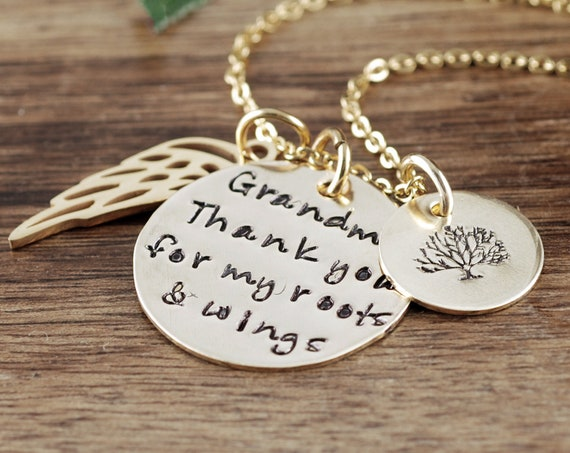 Mother of the Bride Gift, Roots and Wings Gift, Bridal Gift for mom, Necklace for Mom, Personalized Necklace, Bridal GIft for Mom