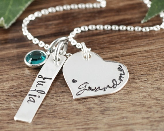Grandma Necklace, New Grandma Gift, Name Necklace, Necklace for Grandma, Gift for Grandma, Personalized Necklace with kids Names