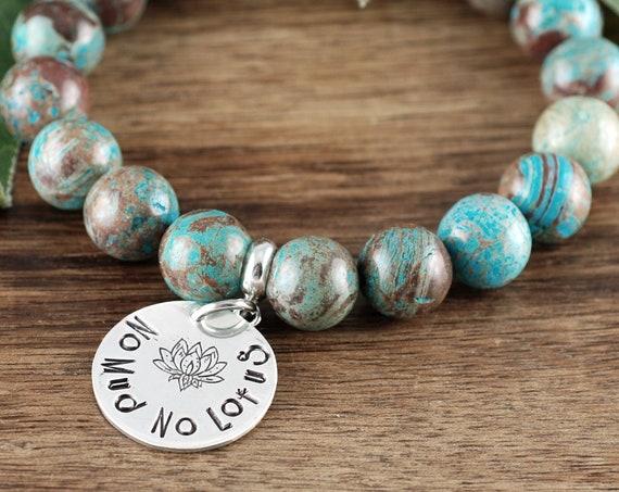 No Mud No Lotus, Lotus Jewelry, Lotus Bracelet, Buddah Bracelet, Yoga Gift, Yoga Bracelet, Yoga Jewelry, Beaded Bracelet, Stretch Bracelet