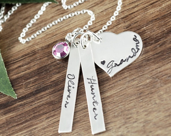 Personalized Grandma Necklace, Grandma Gift, Name Necklace, Necklace for Grandma, Gift for Grandma, Personalized Necklace with kids Names