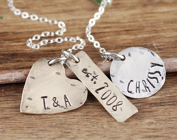 Custom Mom Necklace, Personalized Family Necklace, Mother's Charm Necklace, Personalized Name Necklace, Mother's Necklace, Gift for Mom