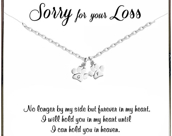 No longer by my side, Pet Memorial Necklace, Personalized Memorial Necklace, Memorial Gift for Dog Mom, Sympathy Jewelry, Loss of Pet