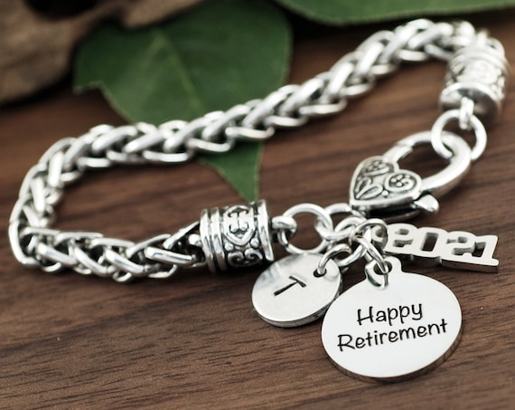 Retirement Gift, Retirement Bracelet, Retirement Jewelry, Congratulations Gift, Retirement Gifts for Women, End Year Gift, Congratulations