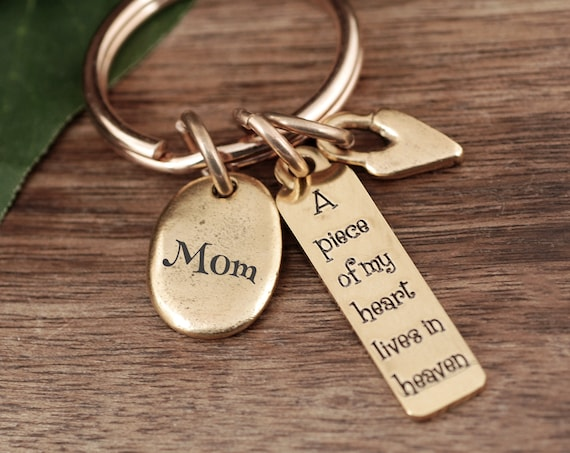A Piece Of My Heart Has Wings Keychain, Sympathy Keychain, Memorial Keychain, Sympathy Gift For Loss Of Loved One, Bereavement Keychain