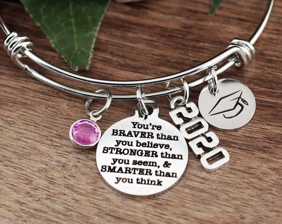 Graduation Gift, Braver than you Believe, Stronger than you Seem, Smarter than you Think, Graduation Gift, Motivational Gift, Inspirational