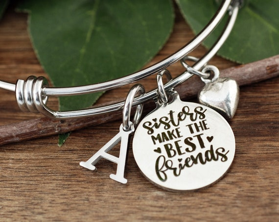 Sisters Make the Best Friends, Sister Gift, Gift for Sisters, Bracelet for Sister, Charm Bracelet, Birthday Gift, Sister Jewelry