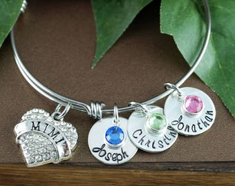 Personalized Mimi Bracelet   Hand Stamped Mom Bracelet   Personalized Jewelry   Grandmother Bracelet   Gift for Her   Gift for Grandma