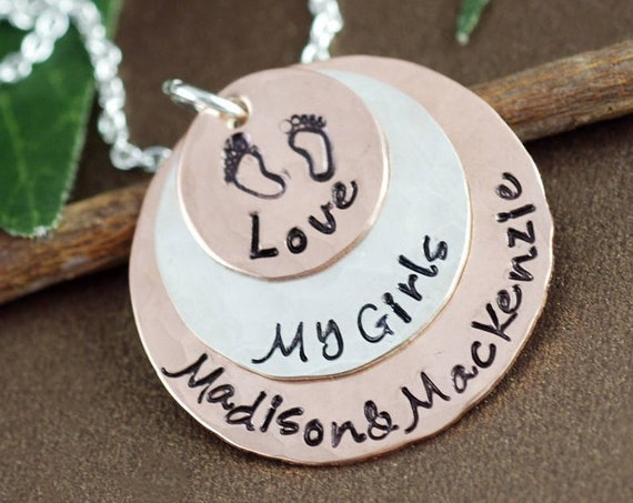 Personalized Mom Necklace, Gift for Mom, Mom of Boys, Gift for Herm Charm Necklace, My Girls Jewelry, Grandma Necklace, Mother Jewelry