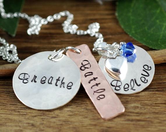 Inspirational Necklace, Believe Necklace, Stamped Jewelry, Awareness Necklace, Inspirational Jewelry, Encouragement Gift, Best Friend Gift