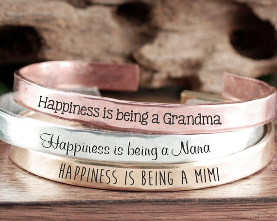 Custom Grandma Bracelet, Gift from GrandDaughter, Gift for Grandma, Nana Jewelry, Mother's Day, Gift From GrandSon, New Grandma Gift
