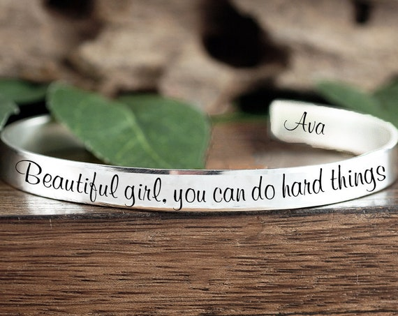 Beautiful girl you can do Hard Things, Quote Gift, Motivation Gift, Sister Gift, Daughter Gift, Encouragement Quote, Motivational Quote