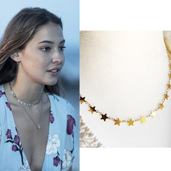 Sarah OBX Star Jewelry Initial, Outer Banks Inspired Choker Necklace, Dainty  Layered, Gold or Silver, Bohemian Jewelry, Obx Inspired