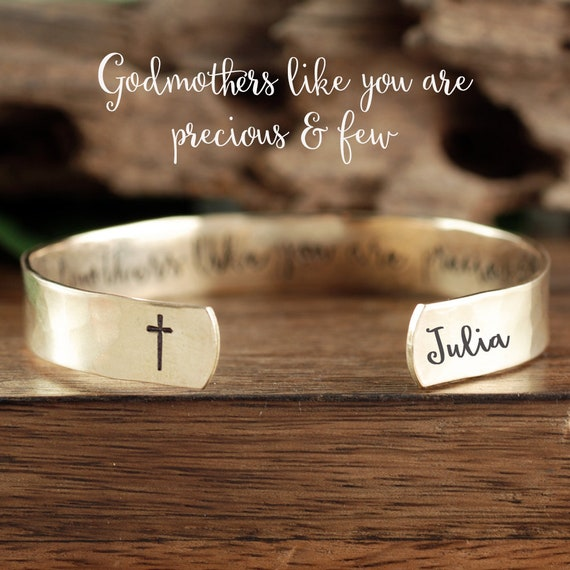 Godmothers Like you are Precious and Few, Gold Godmother Gift, Godmother Jewelry, Baptism Gift, Christening Gift for Godmother,GIft for Her