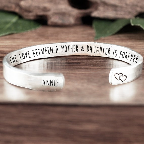 Love between a Mother and Daughter is Forever Bracelet, Inspirational Gift, Gift for Daughter, Gift for Mom, Mother Daughter Gift