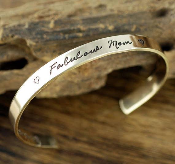 Best Mom Ever Bracelet, Personalized Cuff Bracelet, Personalized Jewelry, Mothers Day Gift, Gift for Mom, Engraved Cuff Bracelet