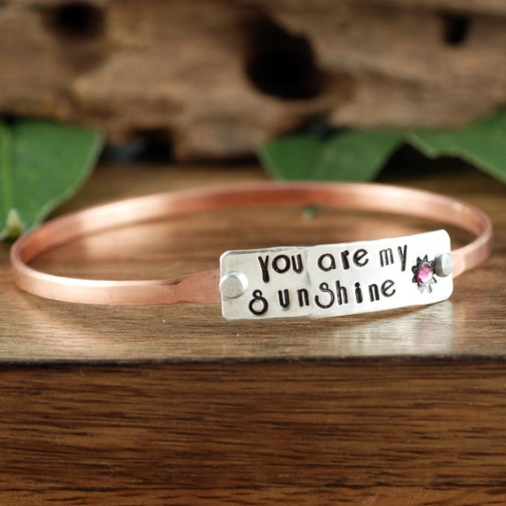 You are my Sunshine Bracelet, Mother Daugther Gift, Best Friend Jewelry, Gift for Mom, Gift for Daughter, Best Friend Gift, Gift for Her