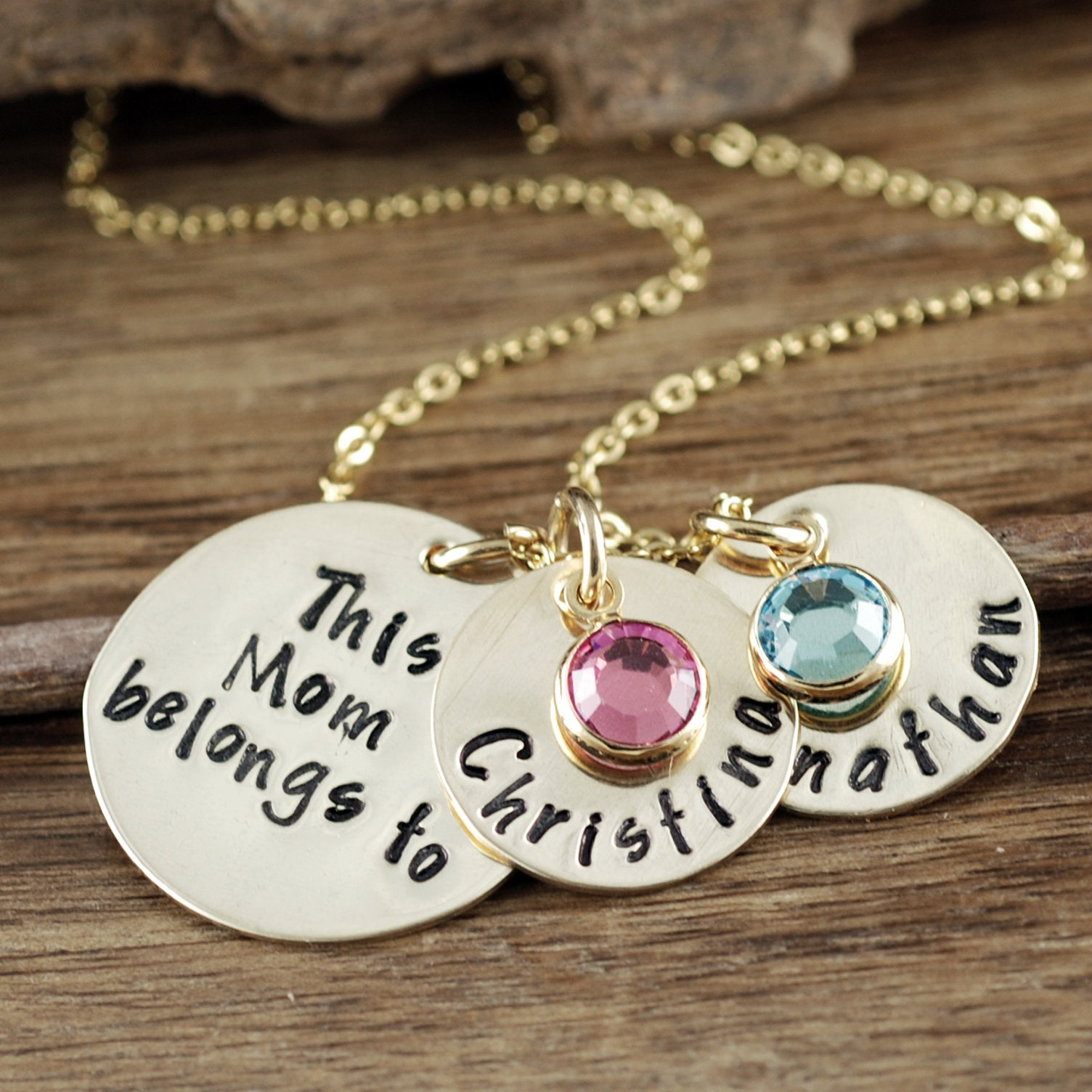 f98530e3cc6a3 Personalized Mom Necklace, Personalized Charm Necklace, Gift for ...