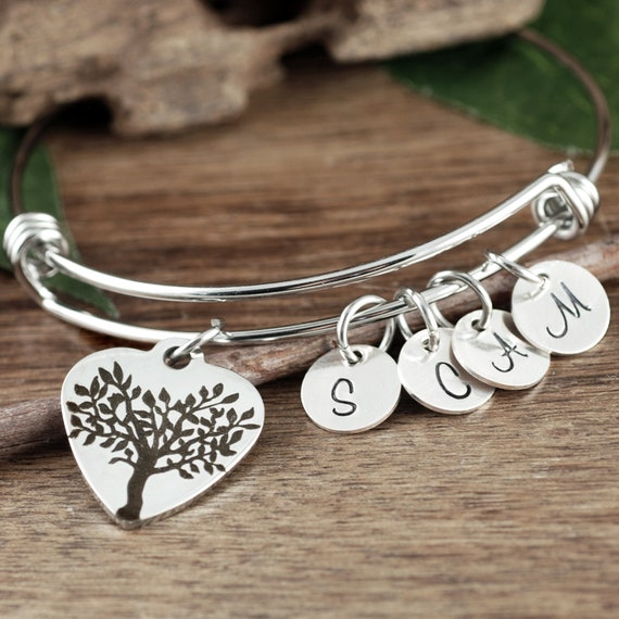 Personalized Family Tree Bracelet, Family Bracelet for Grandma, Gift from Grandkids, Personalized Gift for Nana, Gift for Mimi