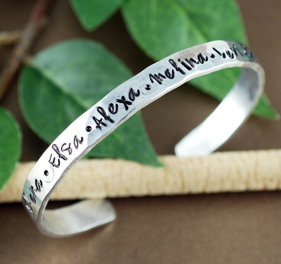 Personalized Name Cuff Bracelet, Name Bracelets, Custom Bracelet, Kids Name Cuff Bracelet, Mother Bracelet, Grandma Jewelry, Gift for Mom