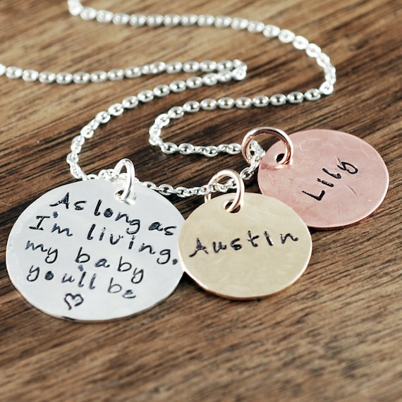 As long as I'm Living, My baby you'll Be Necklace, Mommy Necklace, New Mom Gift, Mommy Necklace, Mother's Necklace, Gift for Mom