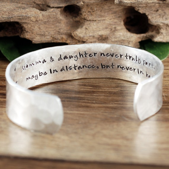 Perosnalized Mother's Cuff Bracelet, Mother's Jewelry, Gift for Mom, Mother's Day Gift, Custom Mother and Daughter Bracelet, Gift for Mom