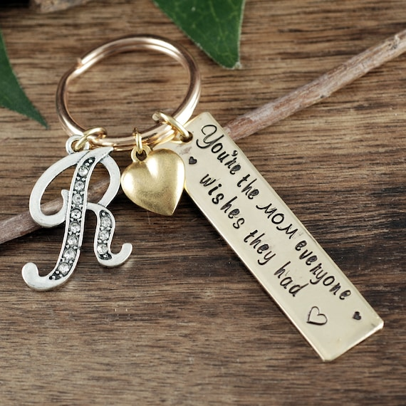 Personalized Mom Keychain, You're the Mom everyone wishes they Had, Gift for Mom, Custom Mother's Keychain, Mother of the Bride, From Kids