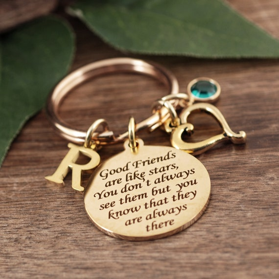 Good friends are like stars, Friendship Keychain, Best Friends Gift, Gift for Best Friend, Besties Gift, Friend Gift, Friendship Gift