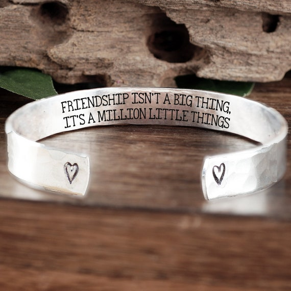 Custom Cuff Bracelet for Friend, Special Friend Gift, Best Friend Bracelet, Friendship Bracelet, Birthday Gift, Gift for Her