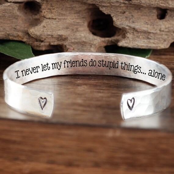 Best Friend Bracelet, Best Friends Cuff Bracelet, Funny Friend Gift, Friendship Bracelet, Best Friend Birthday Gift, Birthday Gift for Her