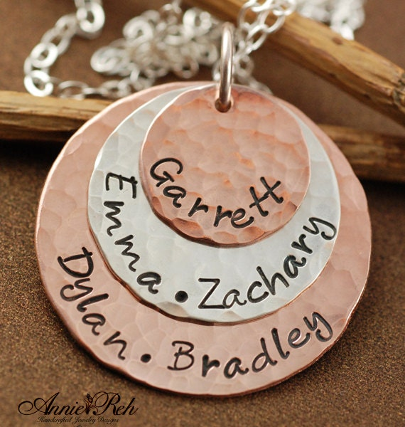 Personalized Name Necklace, Mother's Necklace with Kids Names, Mom Jewelry, New Mom Gift, Gift for Mom Grandma, Monogrammed Necklace