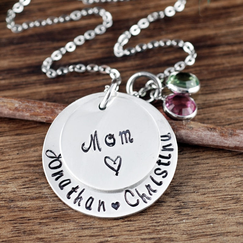 Kids Name Necklace Mom Gift Gift for Mom Gifts for Grandma Personalized Mom Necklace Grandma Jewelry Mother/'s Necklace