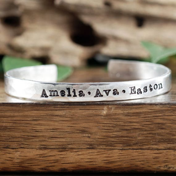 Name Bracelets, Personalized Name Cuff Bracelet, Custom Bracelet, Kids Name Cuff Bracelet, Mother Bracelet, Grandma Jewelry, Gift for Mom