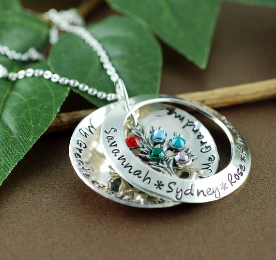 Personalized Family Tree Locket Style Necklace | Personalized Mom Jewelry | My Greatest Blessings Necklace | Locket Necklace for Mom