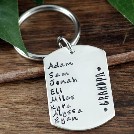 GrandFather Keychain, Father's Day Gift, Personalized KeyChain for Grandpa, Gift for GranDad, Grandfather Gifts, Gift for Him