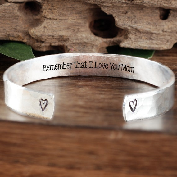 Remember That I Love You Mom, Mom Bracelet, Mother's Bracelet, Birthday Gift for Mom, Gift for Her, I love you Mom Gift, Gift from Daughter