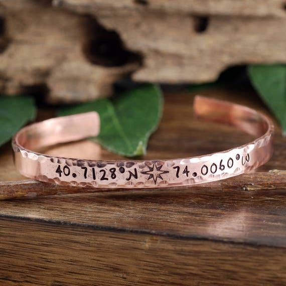 Location Bracelet, Coordinate Cuff Bracelet Custom Cuff Bracelets, Longitude Latitude Bracelet, Personalized Bracelets, Mothers Day Gift