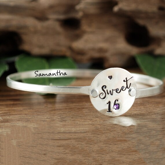 Sweet 16 Bracelet, Sweet Sixteen Jewelry, Personalized Sweet 16 Gift, Sweet Sixteen Birthday Gift, Sweet 16 Gifts, Gift for Daughter