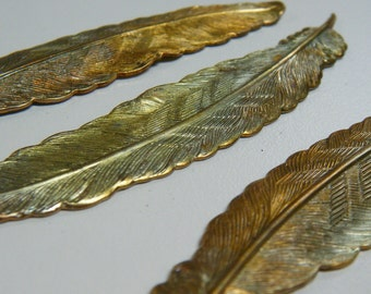 Heat Treated Brass Feather 2 pieces