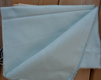 """DUPIONI SILK REMNANT - Mint Green colored remnant 18 3/4"""" Wide X 49 1/4"""" Long/Great for sewing Cushion Covers/Lining A Vest"""